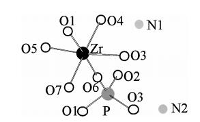 A novel layered zirconium phosphate [NH4](2)[Zr(OH)(3)(PO4)] synthesized through non-aqueous route